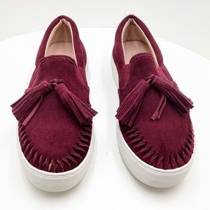{J Slides} Aztec Suede Loafer Tassel Sneakers